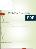 SAP IMWM Presentation