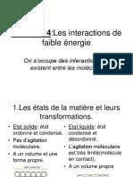 partie 2 chapitre 4 les interactions de faibles énergies