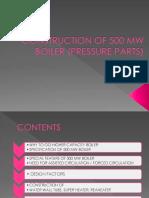 Pressure Parts 500MW Boiler.pptx