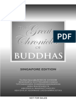 Buddhavamsa. the Great Chonicles of the Buddhas