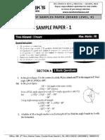 x Class (Sample Papers) [Mathe] j