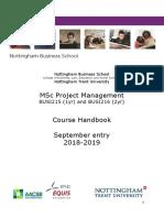 Course Handbook MSc PM 2018-19
