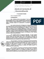 Resolución Secretaria de Descentralización N 040 2009 PCM SD 12082009 Secretaria