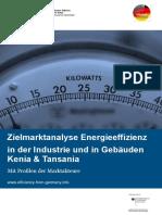 Zielmarkt Energieeffizienz in Kenia Und Tansania September 2014