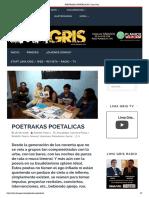 POETRAKAS POETALICAS (18-06-2018) RODOLFO YBARRA - LIMA GRIS