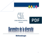Presentation Etude Diversite Methodologie