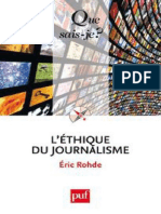 Lethique Du Journalisme - Rohde Eric