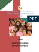 C.7 Competencias de La Educación Inicial