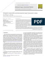 2010. Ecological Compensation and Environmental Impact Assessment in Spain