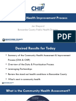 Buncombe County Community Health Improvement Process, March 2019