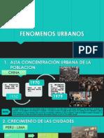 FENOMENOS URBANOS
