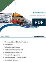 Universal_Ballast Basics I