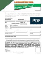 Ficha de Inscripcion Unica