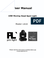 LS10 Big Dipper, Pro Light, Mini Moving Head, cabeza movil 10w