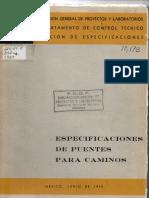 Especificaciones SOP 1959 Estructuras