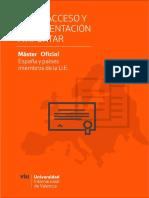 Acceso a Máster Oficial Viu (España y u.e