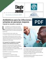 Antibioticos Para Las Infecciones de Las Vias Urinarias en Personas Mayores