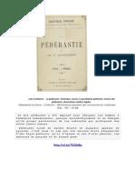 Jean Caufeynon - La Pédérastie
