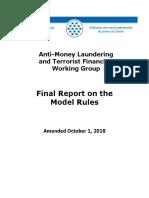 Anti-Money Laundering and Terrorist Financing Working Group