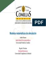 Modelos Matemáticos de Simulación