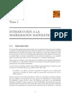 Introducción a La Modelización Matemática