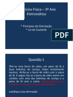 Questoes Eletrostática e Lei de Coulomb