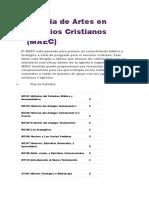Maestría de Artes en Estudios Cristianos