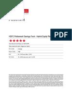 ValueResearchFundcard HDFCRetirementSavingsFund HybridEquityPlan RegularPlan 2019Mar04