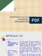 Licencias. Art. 114 Estatuto del docente