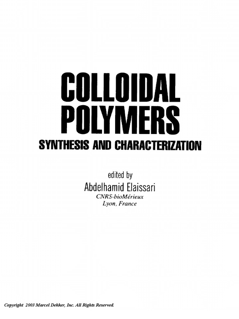 Colloidal polymers surfactant science by abdelhamid elaissari colloidal polymers surfactant science by abdelhamid elaissari polymers paint fandeluxe Image collections