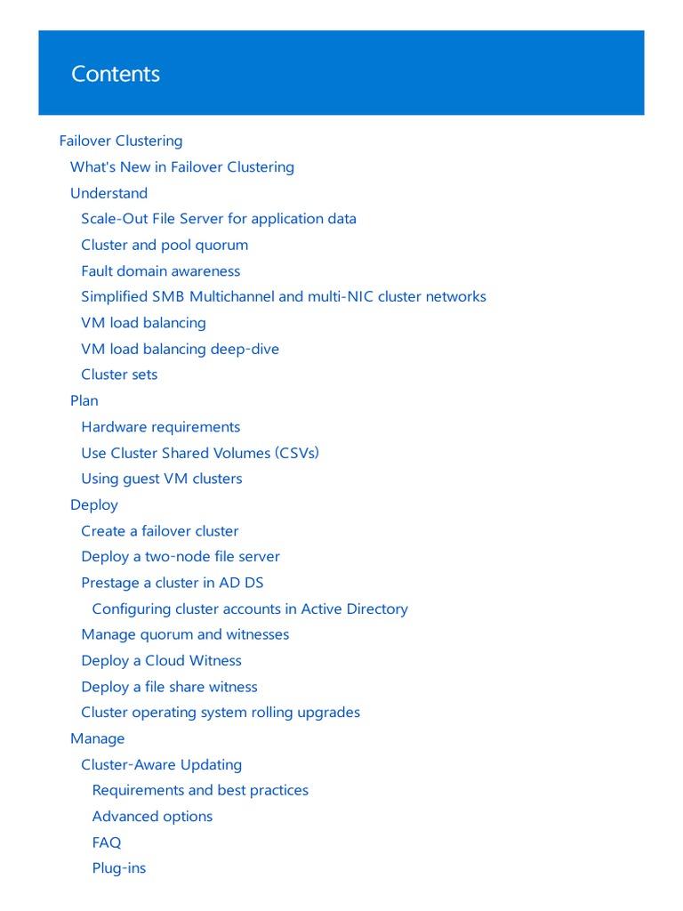 Technet Failover Cluster pdf   Hyper V   Computer Cluster