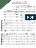 Stravinsky Tres Piezas Para Cuarteto