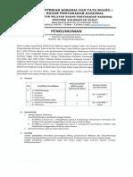 Penerimaan Jasa Konsultan Perorangan Dalam Kegiatan Gugus Tugas Reforma Agraria Provinsi Kalimantan Barat