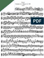 Mozart violin sonata in c major