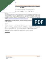 Analisis de Los Costos de Produccion y Factibilidad Del Procesamiento de Aceite de Palma