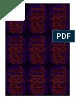 Warhammer Quest Spell Cards