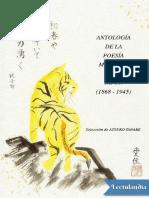 Antologia de La Poesia Moderna Del Japon 18681945 - AA VV