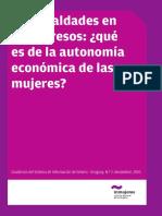 Que Es Autonomía Económica de Las Mujeres
