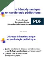 Détresse Hémodynamique en Cardiologie Pédiatrique