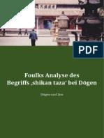Foulks Analyse des Begriffs 'shikan taza' bei Dogen