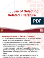 Process of Selecting Related Literature