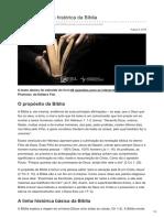 voltemosaoevangelho.com-Propósito e linha histórica da Bíblia