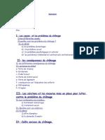 II- Les Conséquences Du Chômage III- Les Solutions Et
