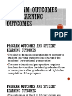 Program Outcomes and Learning Outcomes