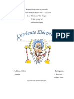 INVESTIGACION DOCUMENTADA DE LA CORRIENTE ELECTRICA