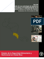 FAO Seguridad Aliment Aria en CR y CA