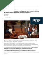 Castas en Hispanoamerica