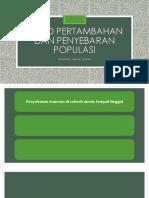 Trend Pertambahan Dan Penyebaran Populasi
