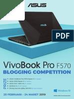 ASUS VivoBook Pro F570 Blogging Competition