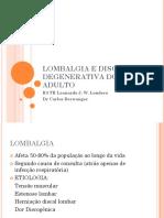 Lombalgia e Discopatia Degenerativa 2015